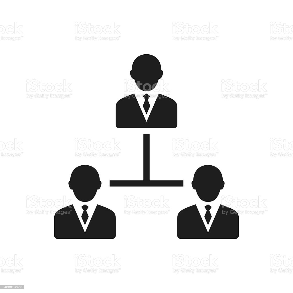 Leadership icon on a white background. vector art illustration