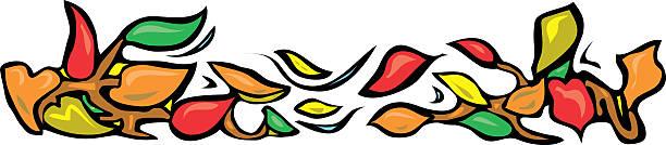 Leaf Border vector art illustration