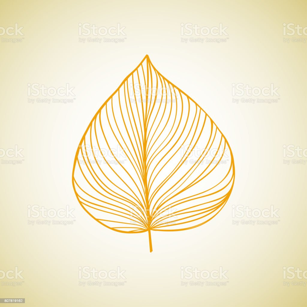 Leaf ideas design illustration on background. Rasterized copy. vector art illustration