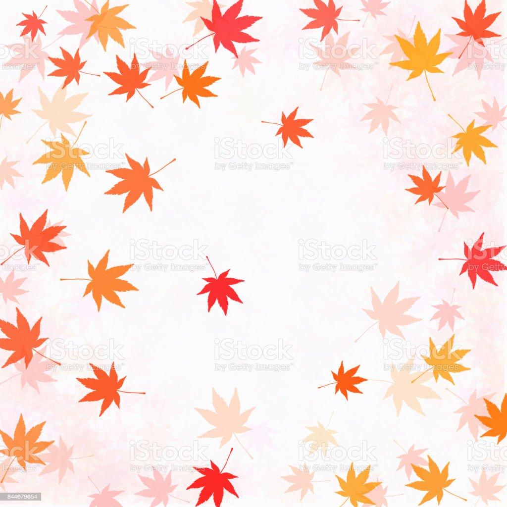 Leaf pattern vector art illustration
