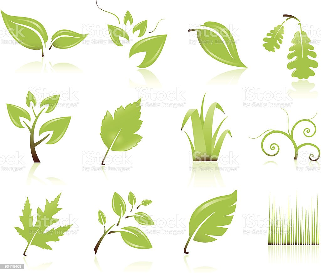 Leaf Symbols royalty-free stock vector art
