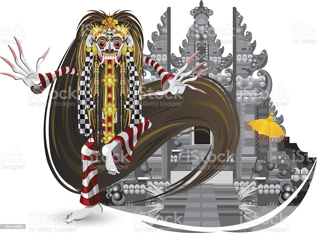 Leak Traditional Bali Dance vector art illustration