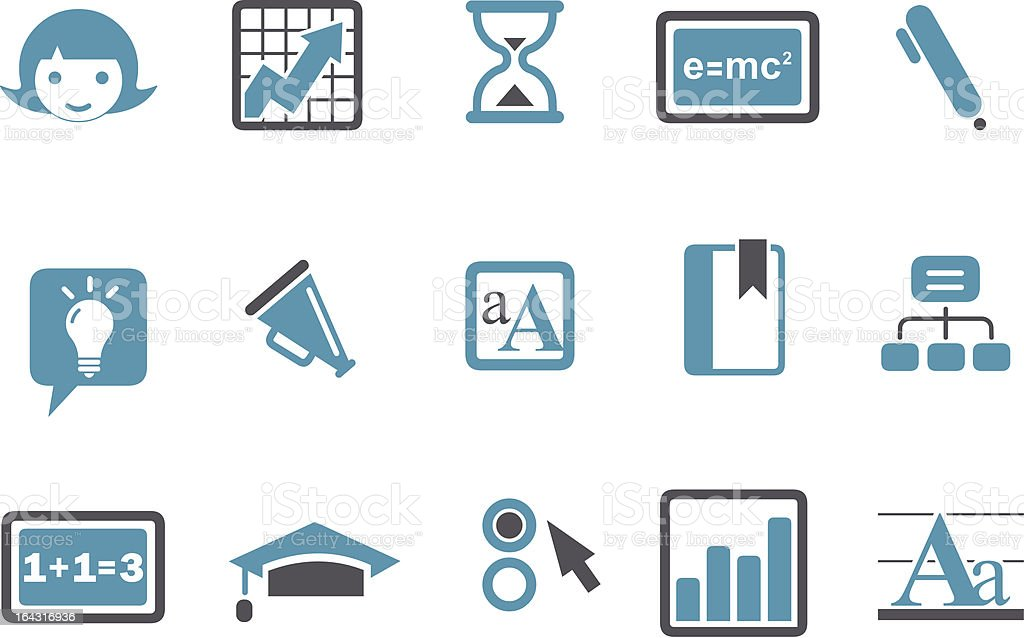 Learning Icon Set royalty-free stock vector art