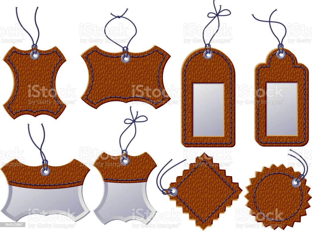 Leather labels royalty-free leather labels stock vector art & more images of bar code