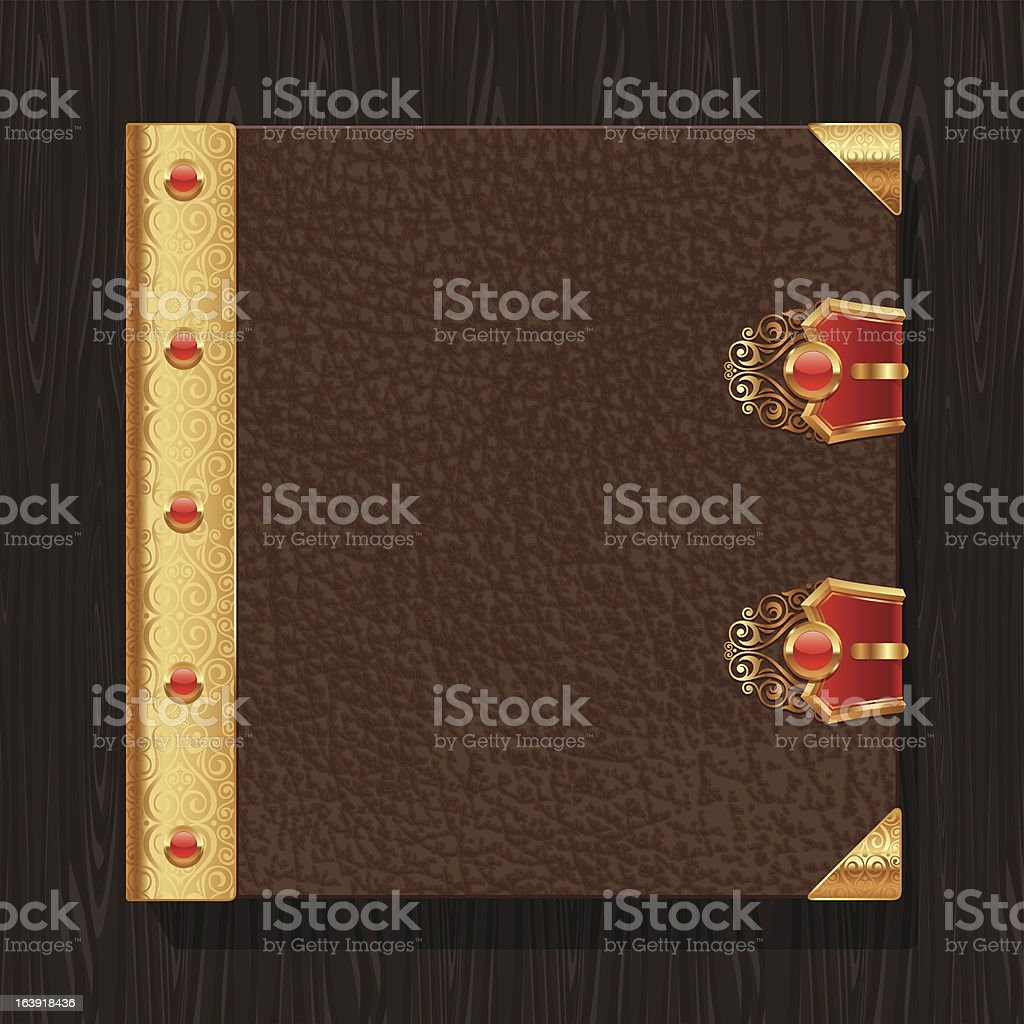 Leather vintage book hardcover royalty-free stock vector art