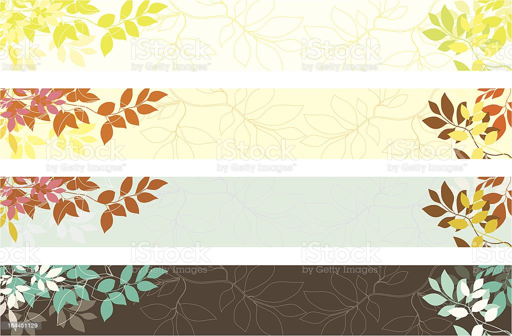 Leaves Background royalty-free stock vector art