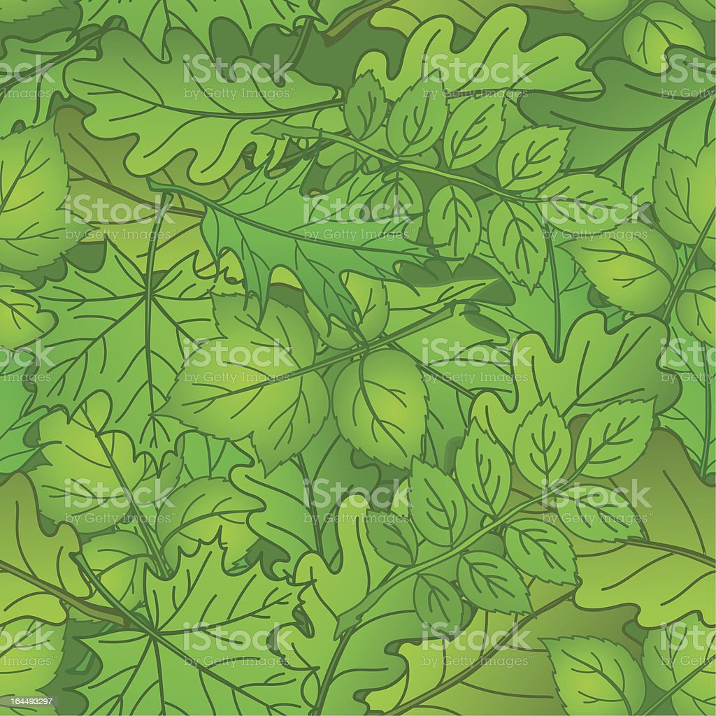 Leaves of plants, seamless, summer royalty-free stock vector art