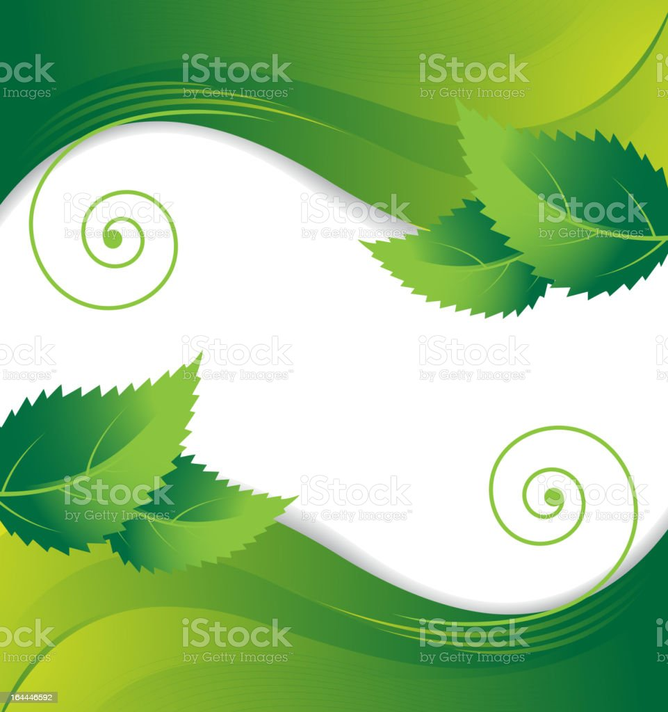 Leaves on a green background royalty-free leaves on a green background stock vector art & more images of backgrounds