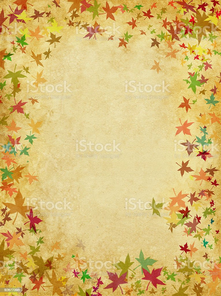 Leaves on Paper royalty-free stock vector art