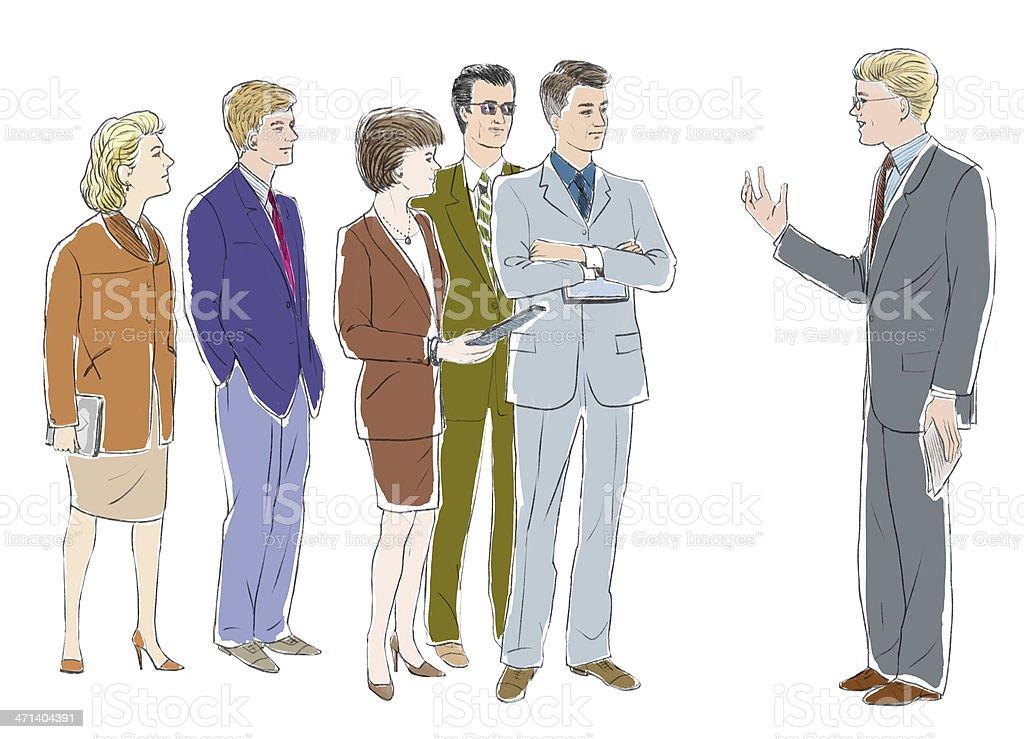 Lecturer vector art illustration