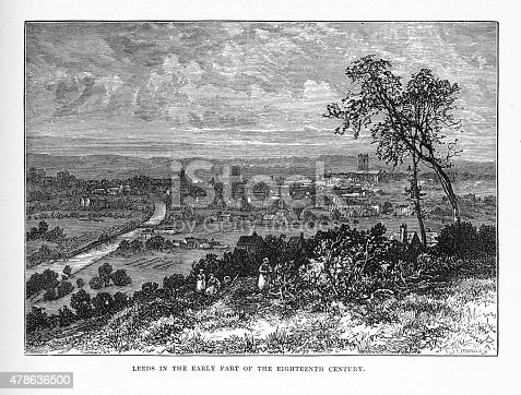 istock Leeds, England in the Early 18th Century Victorian Engraving 478636500