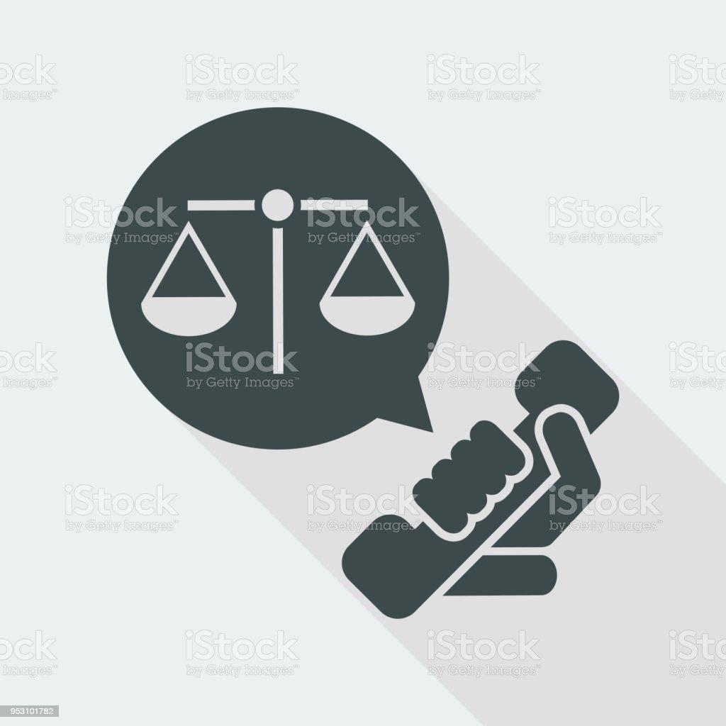 Ícone de assistência jurídica - ilustração de arte em vetor