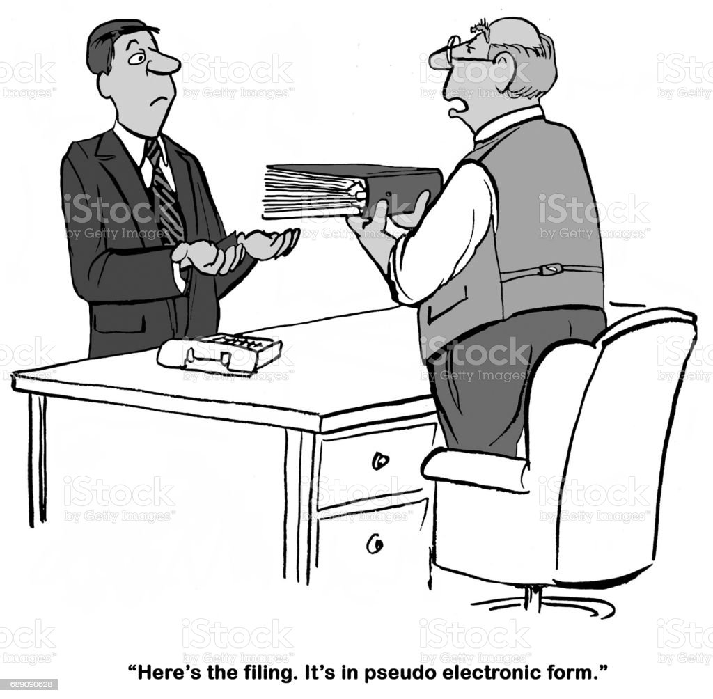 Legal Filing vector art illustration