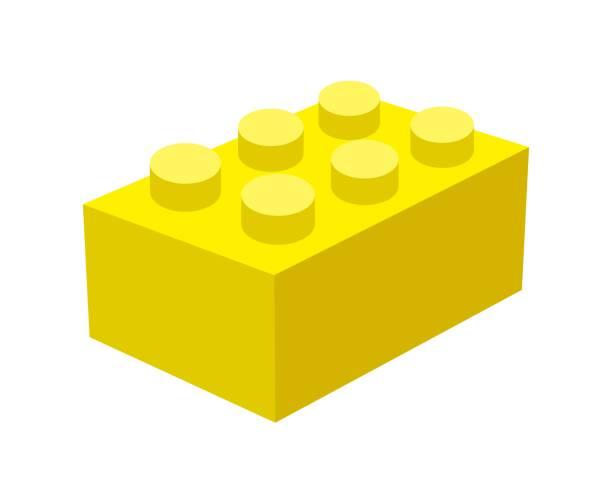 stockillustraties, clipart, cartoons en iconen met lego blok. - lego