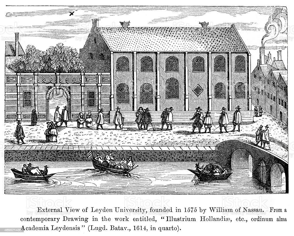 Leiden University royalty-free stock vector art