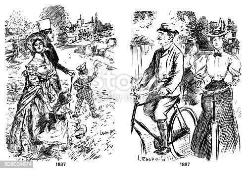 istock Leisure fashions 1837 and 1897 508004674