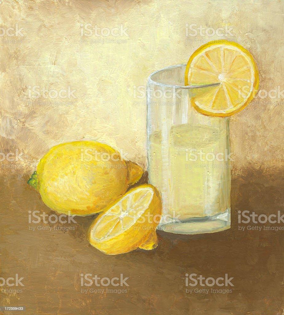 Copa de limonada limones ilustración de copa de limonada limones y más banco de imágenes de aceite y acrílico libre de derechos