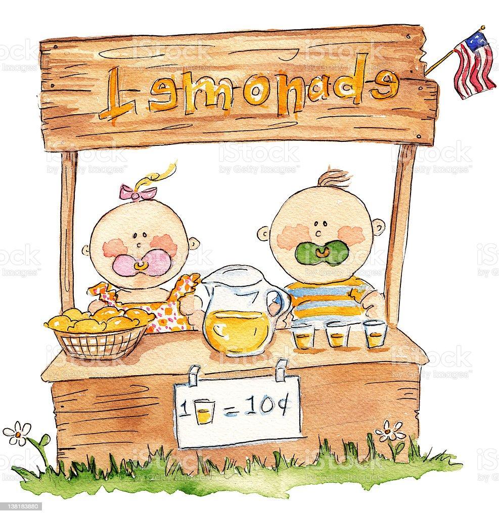 Lemonade Stand vector art illustration