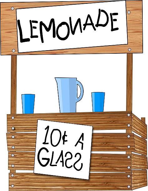 lemonade stand - sale stock illustrations
