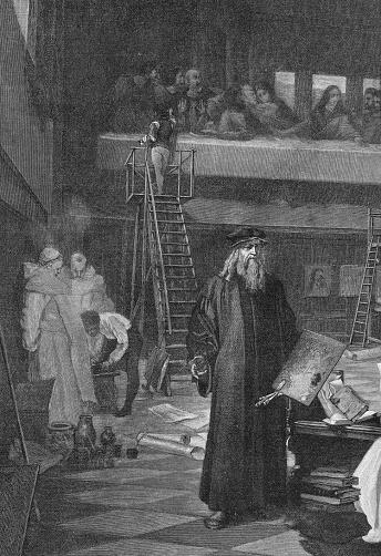 Leonarda da Vinci painting Last Supper around 1495 in Milan