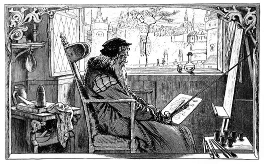 Leonardo da Vinci at work