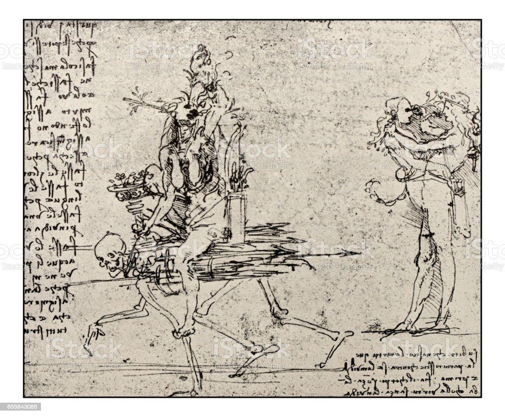 Skizzen Und Zeichnungen Von Leonardo Da Vinci Allegorie Malerei Neid ...