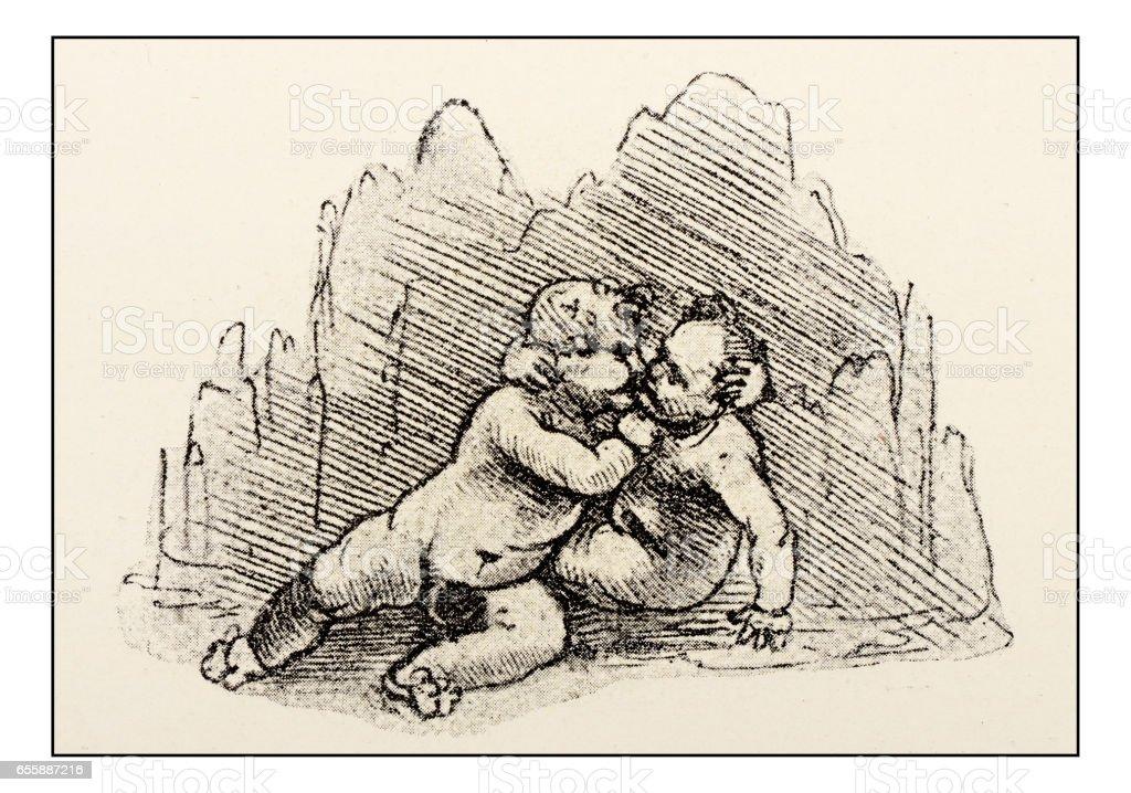 Ilustración de Bocetos Y Dibujos De Leonardo Niño Jesús Con Juan El ...