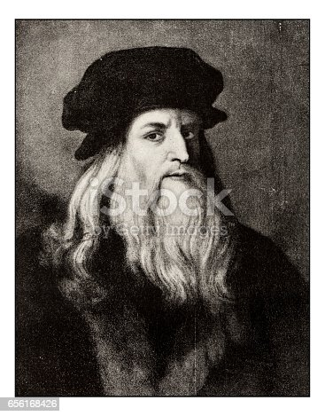 istock Leonardo's sketches and drawings: Leonardo da Vinci 656168426