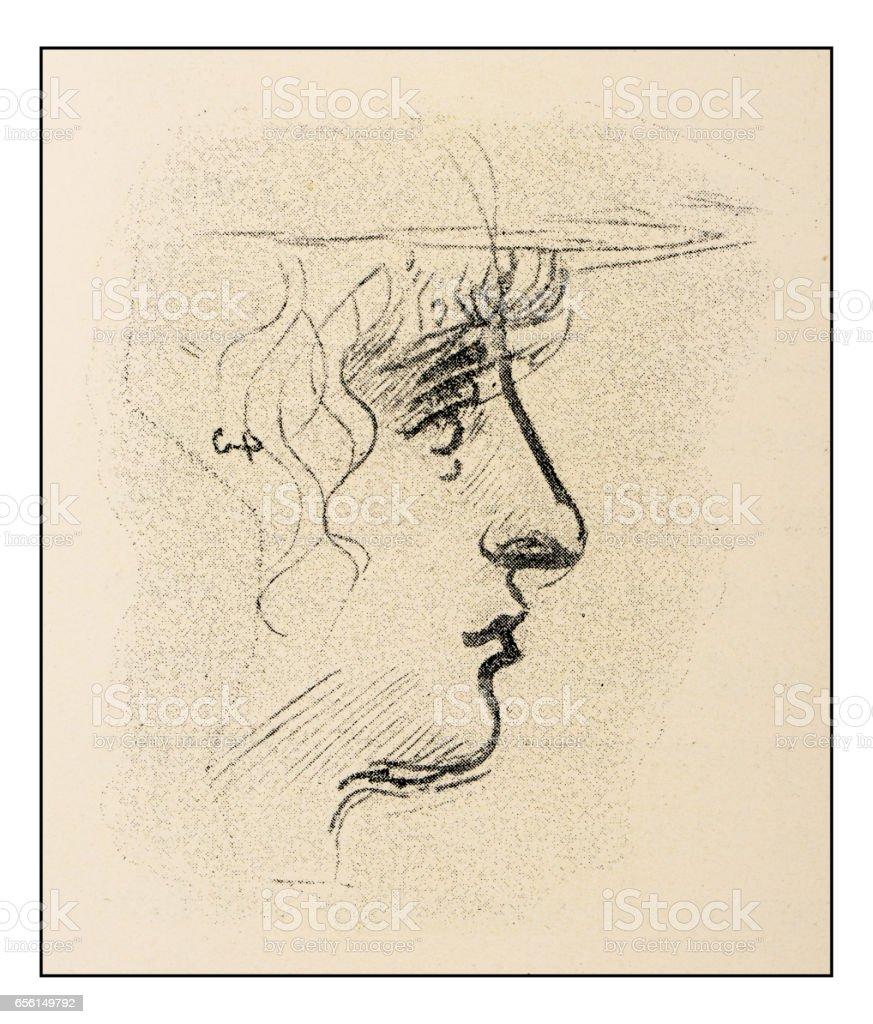Skizzen Und Zeichnungen Von Leonardo Da Vinci Junge Frau Stock ...