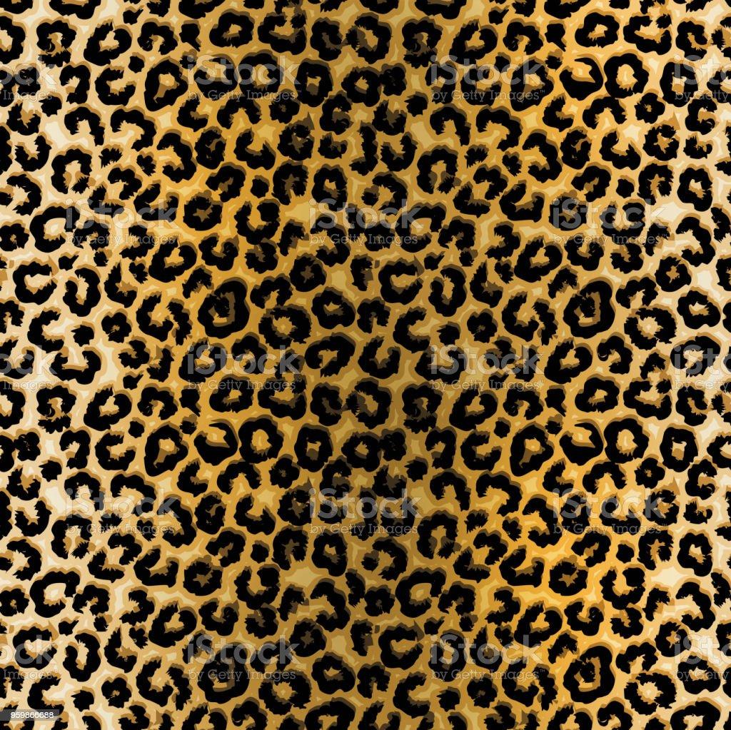 Ilustración de patrón de leopardo - ilustración de arte vectorial