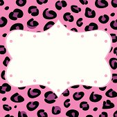 Blank leopard frame isolated on white background. Vector