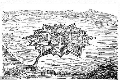 Illustration of a Leopoldov castle ,Slovakia