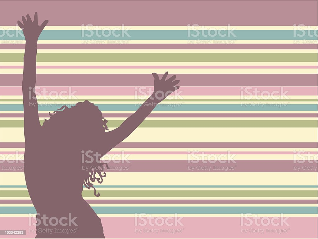 Lets dance royalty-free stock vector art