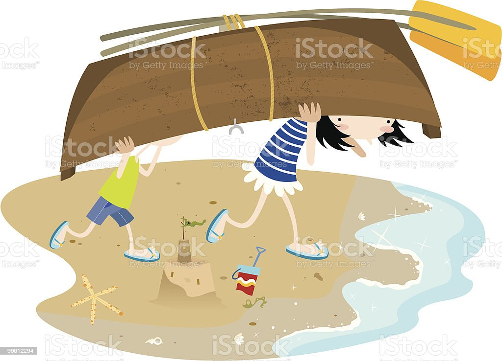 Let's go boating! - Royalty-free Beach stock vector