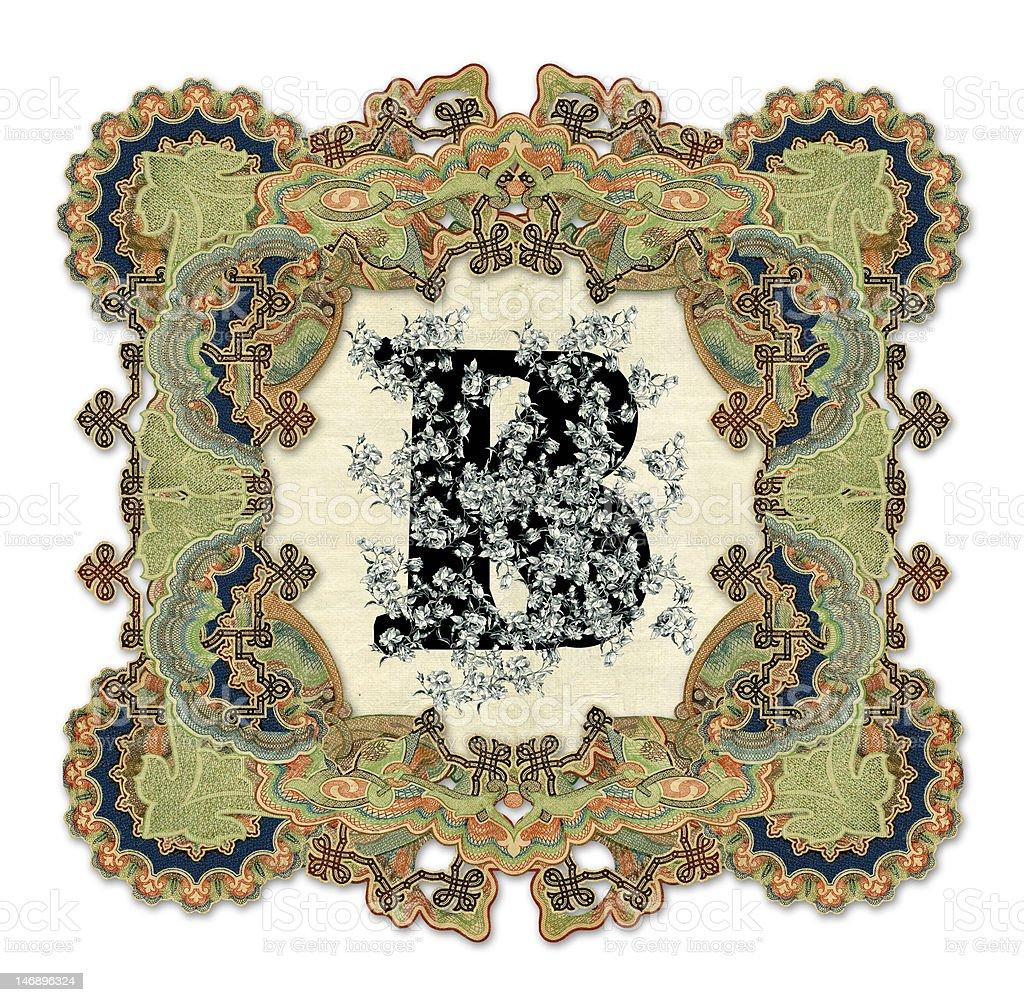 Letter B. royalty-free stock vector art