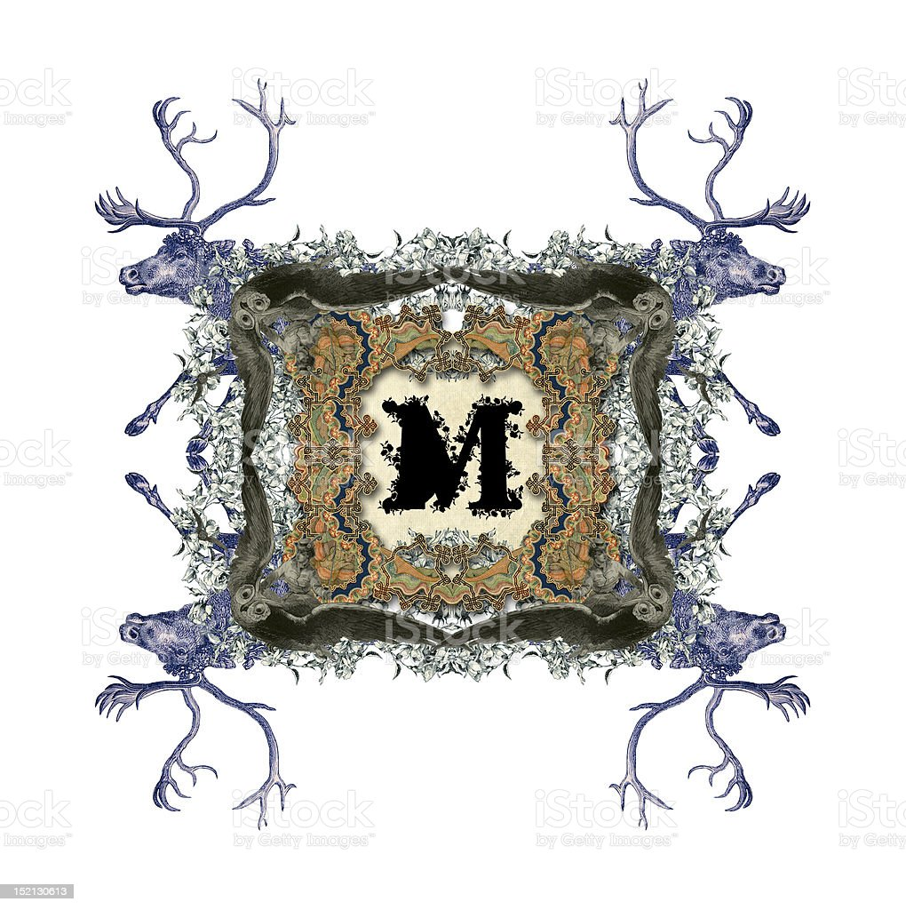Letter M. royalty-free stock vector art