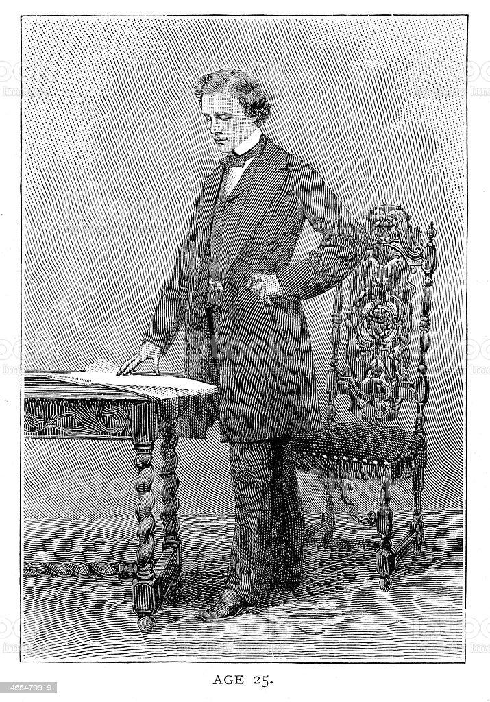 Lewis Carroll - illustrazione arte vettoriale