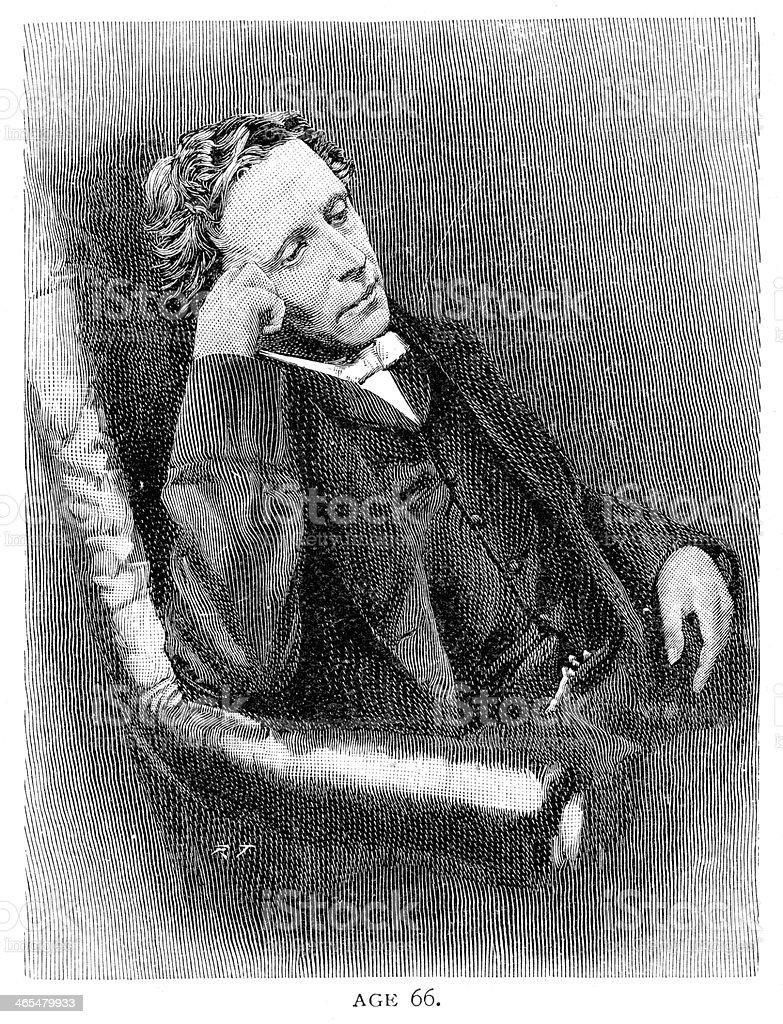Lewis Carroll royalty-free stock vector art