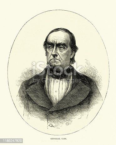 istock Lewis Cass, American military officer, politician, and statesman 1185247820