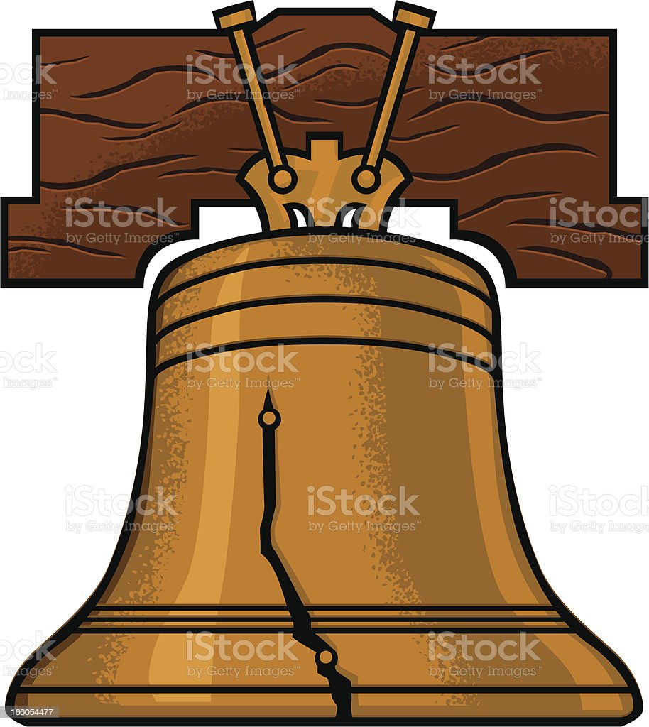 royalty free liberty bell clip art vector images illustrations rh istockphoto com Liberty Bell Silhouette liberty bell clipart free