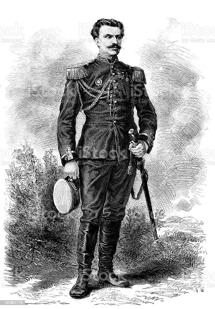 Lieutenant colonel Prjewalski portrait royalty-free lieutenant colonel prjewalski portrait stock vector art & more images of 19th century style