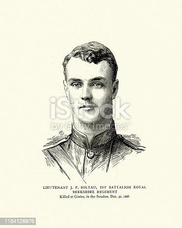 istock Lieutenant J.F. Soltau, 1st Bn Berkshire Regiment, British soldier 1154126976