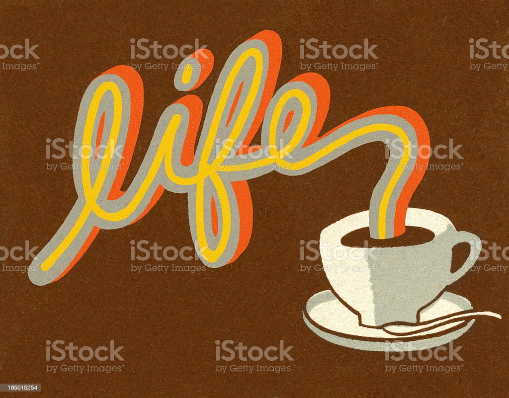 Life Pouring Coffee royalty-free life pouring coffee stock vector art & more images of brown background