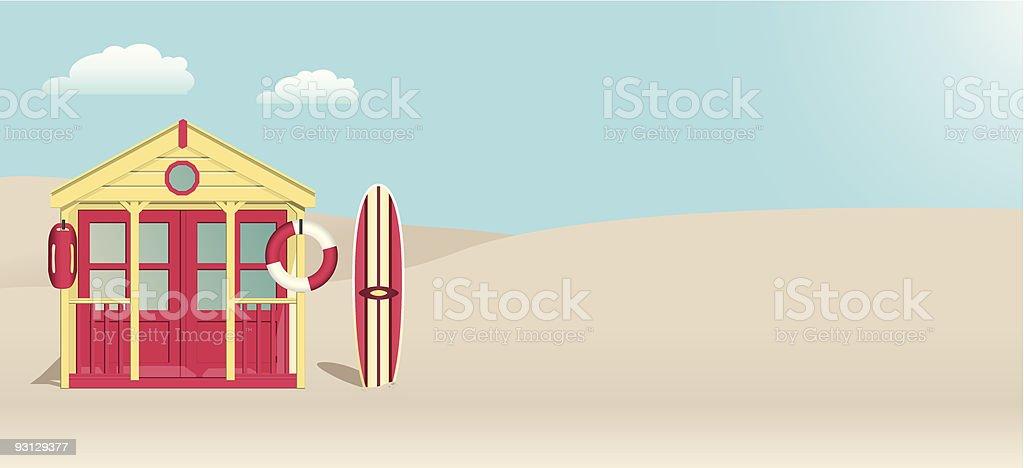 Lifeguard Beach Hut royalty-free stock vector art