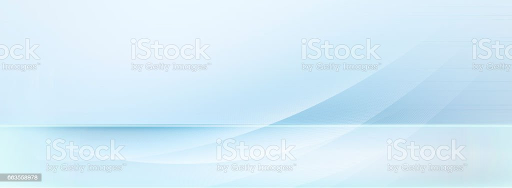 light blue and white motion lines on blurred light blue background - Illustration vectorielle