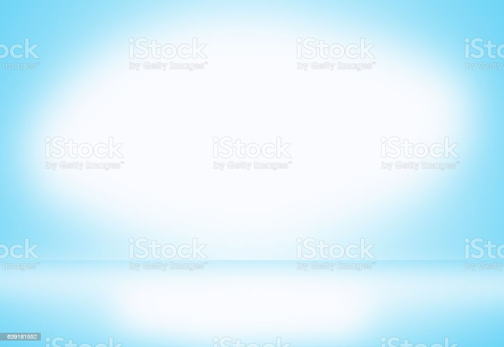 Light blue gradient abstract background. Empty room for display product. vector art illustration