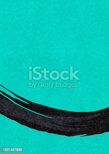 istock Light blue Japanese paper with a brush pattern 1331407935