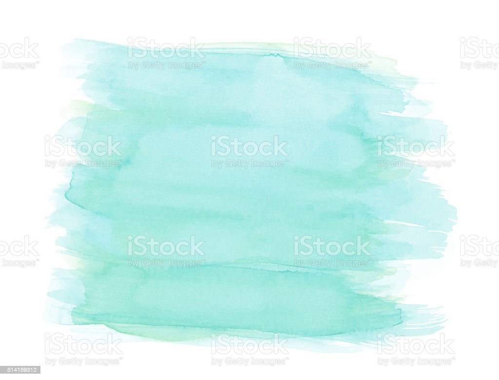 Light blue watercolor background with painbrush strokes, isolated on white vector art illustration