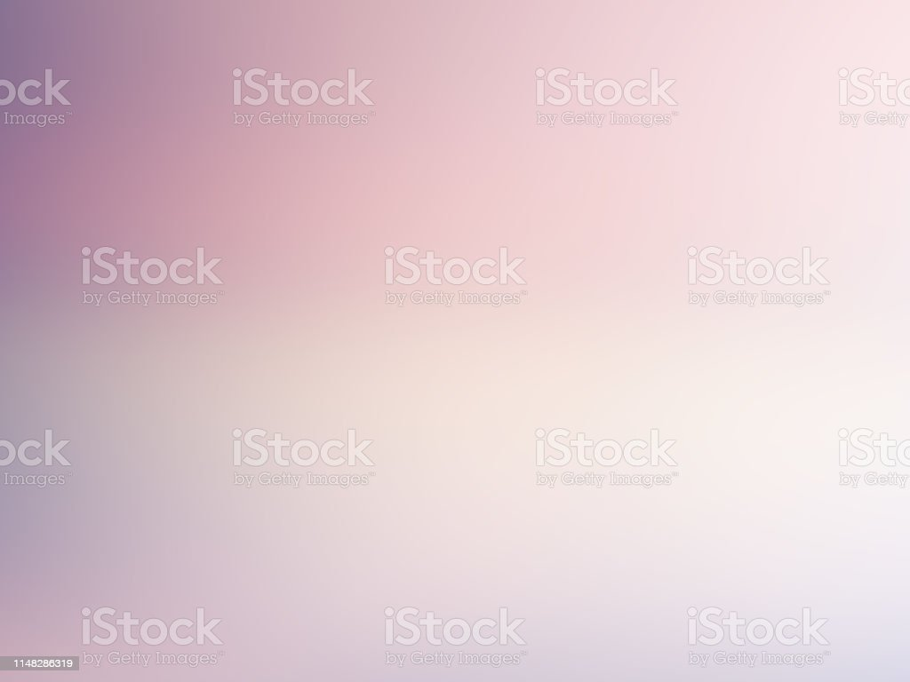 Light blurred background. Soft pale pink, violet, white gradient. Color transition. Delicate abstract design. Nice elegant foggy dreamy image with text place - Royalty-free Abstrato Ilustração de stock
