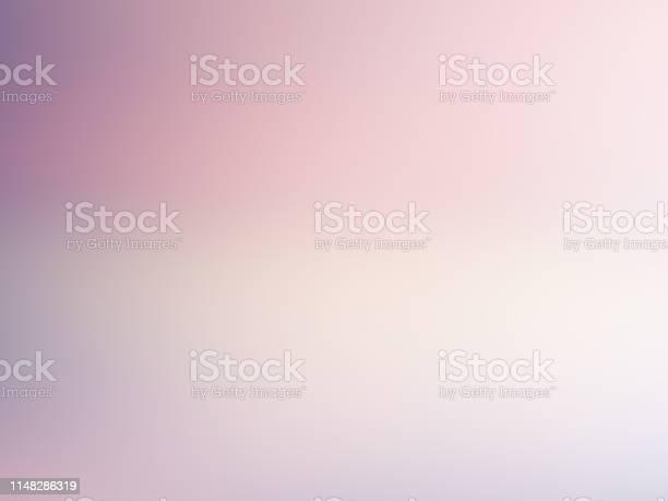 Light Blurred Background Soft Pale Pink Violet White Gradient Color Transition Delicate Abstract Design Nice Elegant Foggy Dreamy Image With Text Place - Arte vetorial de stock e mais imagens de Abstrato